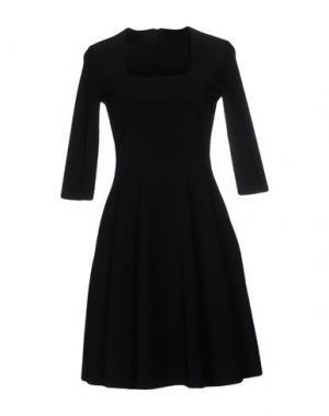 Короткое платье ES'GIVIEN. Цвет: черный