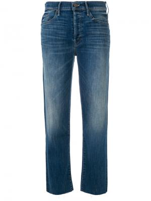 Укороченные брюки  прямого кроя Mother. Цвет: синий