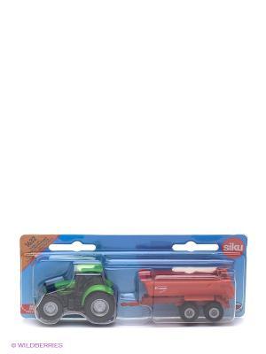 Трактор с опрокидывающимся кузовом SIKU. Цвет: зеленый, красный