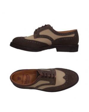 Обувь на шнурках TRICKER'S. Цвет: хаки