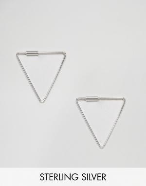 Kingsley Ryan Серебряные серьги треугольной формы. Цвет: серебряный