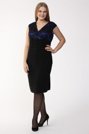 Платье GOLD. Цвет: синий, черный