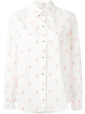 Рубашка с принтом фламинго Marc Jacobs. Цвет: белый