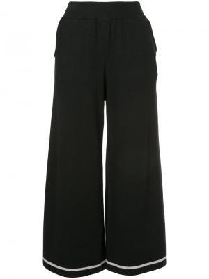 Укороченные широкие брюки Guild Prime. Цвет: чёрный