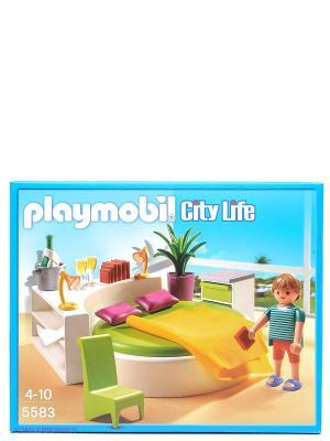 Особняки Современная спальня Playmobil. Цвет: голубой