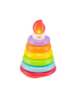 Пирамидка HAPPY CAKE Baby. Цвет: зеленый, белый, голубой, желтый, оранжевый, темно-фиолетовый