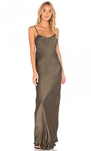 Длинный сарафан essential Flannel Australia. Цвет: оливковый