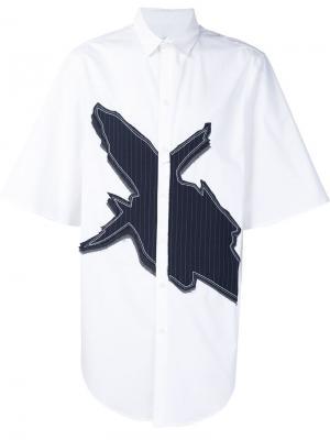 Рубашка с аппликацией Icosae. Цвет: белый