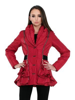 Куртка Alisa Line. Цвет: красный