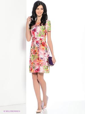 Платье Hammond. Цвет: розовый, красный