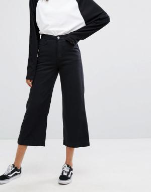 Weekday Джинсы с широкими штанинами. Цвет: черный