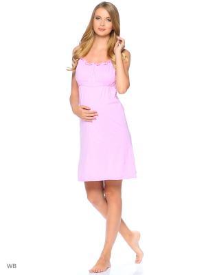 Сорочка EUROMAMA. Цвет: розовый