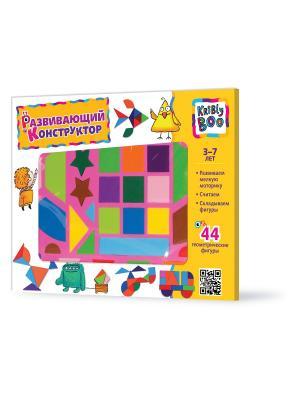 Развивающий конструктор, 44 детали Kribly Boo. Цвет: розовый, желтый, синий, зеленый, голубой, оранжевый
