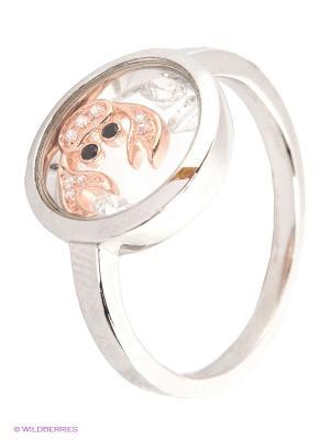 Кольцо JV ДЖЕЙ ВИ. Цвет: серебристый, золотистый