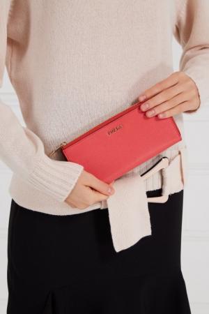 Кожаный кошелек кораллового цвета Babylon FURLA. Цвет: красный