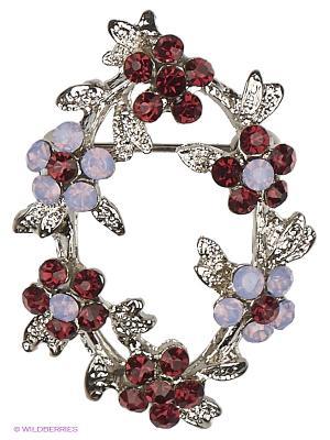 Брошь Lovely Jewelry. Цвет: серебристый