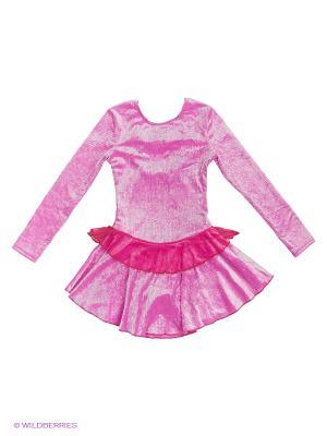 Гимнастический купальник EMDI. Цвет: розовый