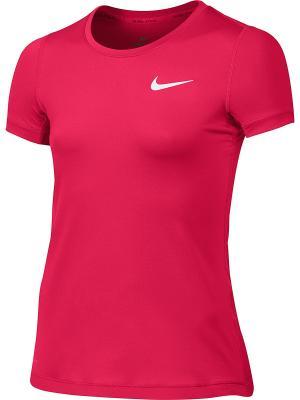 Футболка G NP CL TOP SS Nike. Цвет: розовый