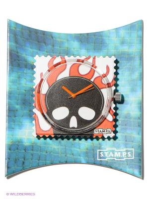Часы S.T.A.M.P.S.. Цвет: оранжевый, черный
