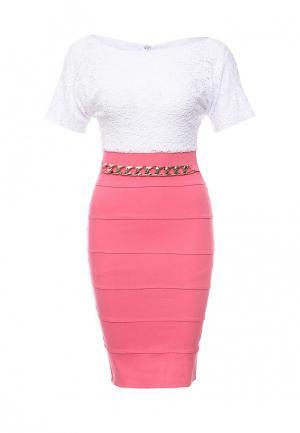 Платье SK House. Цвет: розовый