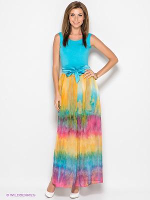 Платье Xarizmas. Цвет: голубой, зеленый, бордовый