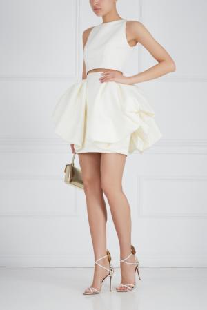 Шелковая юбка Ester Abner. Цвет: кремовый