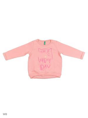 Свитшот United Colors of Benetton. Цвет: бледно-розовый, розовый