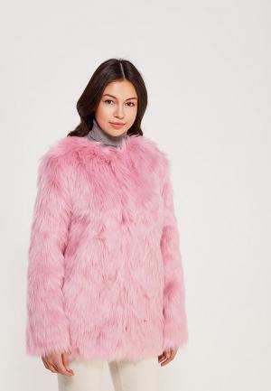 Шуба Miss Selfridge. Цвет: розовый