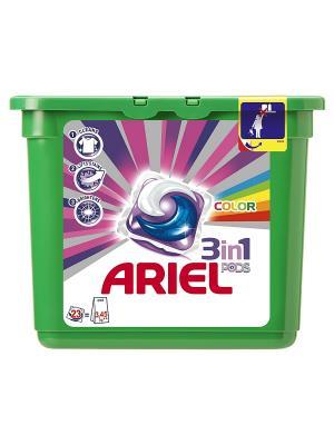 Гель в растворимых капсулах Liquid Capsules Color 23X28.8г Ariel. Цвет: зеленый