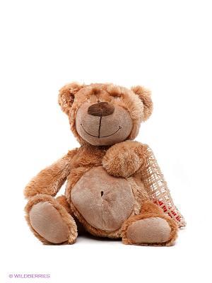 Медведь с сердцем PLUSH APPLE. Цвет: светло-коричневый