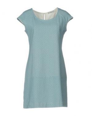 Короткое платье CIRCOLO 1901. Цвет: небесно-голубой