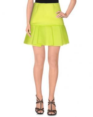 Мини-юбка JUCCA. Цвет: кислотно-зеленый