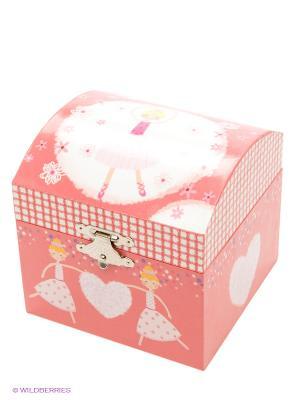 Маленькая музыкальная шкатулка в форме купола Jakos. Цвет: розовый
