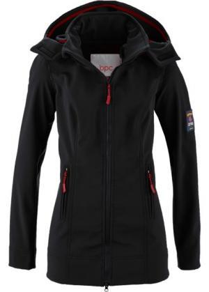 Куртка-софтшелл (черный) bonprix. Цвет: черный