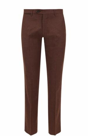 Шерстяные брюки прямого кроя Berwich. Цвет: коричневый