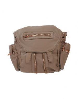 Рюкзаки и сумки на пояс ALEXANDER WANG. Цвет: голубиный серый