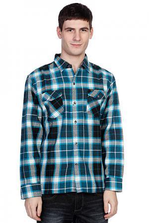 Рубашка утепленная  Not Bad Plaid|turquoise Enjoi. Цвет: белый,синий,черный