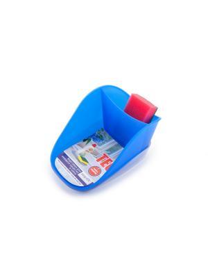 Подставка для моющего средства и губки Teo plus (джинс) Berossi. Цвет: синий
