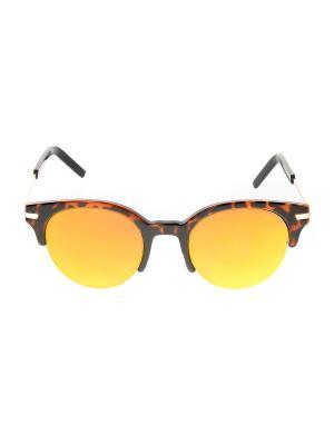 Солнцезащитные очки Happy Charms Family. Цвет: черный, коричневый, оранжевый