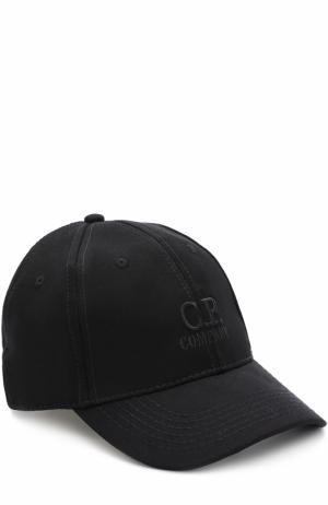 Бейсболка из вискозы C.P. Company. Цвет: черный