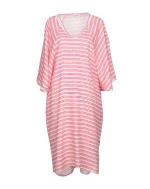 Платье до колена LA FABBRICA del LINO. Цвет: розовый