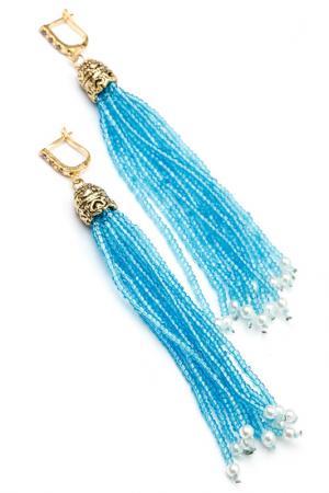 Серьги ZAXA HADID. Цвет: голубой