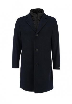 Пальто Lagerfeld. Цвет: синий