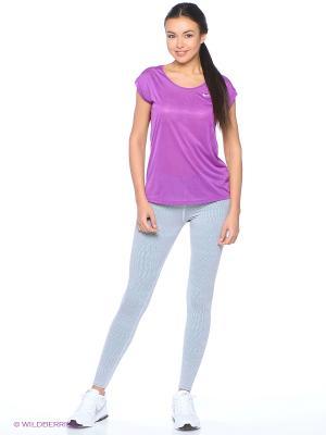 Леггинсы NIKE LEG-A-SEE-AOP. Цвет: голубой, серебристый