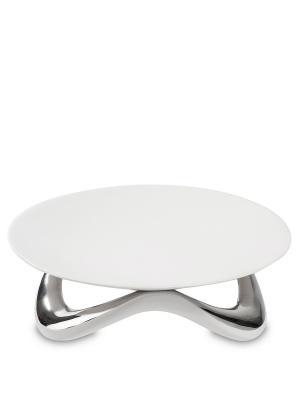 Блюдо Сладкая Фантазия (Art Ceramic) Cervena kostka. Цвет: белый, серебристый