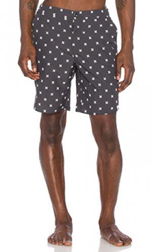 Пляжные шорты calvin ourCASTE. Цвет: уголь
