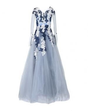 Длинное платье RHEA COSTA. Цвет: светло-серый