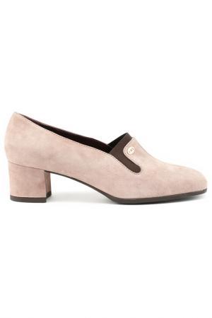 Туфли Donna Serena. Цвет: светло-серый