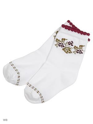 Носки детские Д 2100 Грация. Цвет: белый, бордовый