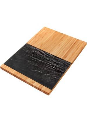 Доска разделочная и сервировочная Шифер (2 изд.) (натуральный/темно-серый) bonprix. Цвет: натуральный/темно-серый